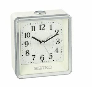 Seiko Contemporary Beep Alarm Clock with Silent Sweep Second Hand. QHE142WLH