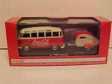 Coca-Cola 1962 VW Volkswagen Bus w Trailer Diecast 1:43 Motor City 5 inch 440033