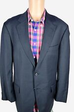 John W Nordstrom Loro Piana Dark Navy Blue Plaid Checked Sport Coat Jacket 42 R