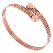 USA Made Bracelet Bangle Rose Gold Tone Antiqued One Size New Charm Vintage Styl