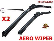"Windscreen Flat Aero wiper blades 23""23"" retro u-hook for VW Transporter T5"
