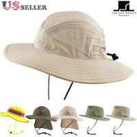 The Hat Depot 50 UPF Sun Protection Outdoor Safari Sun Mesh Bucket Boonie Hat