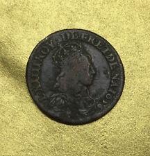 LIARD 1656 LOUIS XIV 2e TYPE A CORBEIL / FRANCE MONNAIE en CUIVRE.