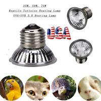 Reptile Light Bulbs UV Heat Lamp Tortoise Turtle Calcium Supplement E27 UVB UVA