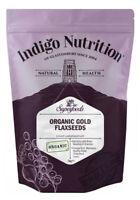 Indigo Herbs Organic Flaxseed 1kg Linseed - Gold or Brown