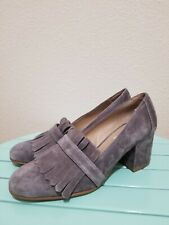 Steve Madden Kate Women's Loafers Pumps Size 7.5 Gray Suede Leather