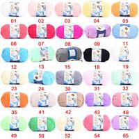 Multicolore Pelote de coton fil à tricoter laine tricot crochet naturel 50g BB