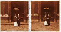 Francia Matrimonio Un Coppia Stereo Amateur Foto Targa Di Glas Pos. 1934 Vintage