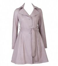 Women's Alannah Hill Pink 'Tell me a Love Story' Leather Coat size 8
