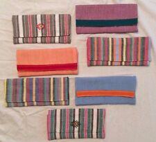 Guatemalan Hand Woven Fair Trade Trifold Wallet Snap Closure Many Colors
