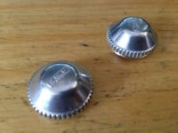 NEW Pair 2 MKS Alloy Pedal Dust Caps for Sylvan Pedals (compatible w Campagnolo)