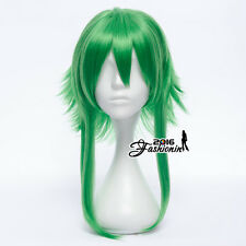 Anime Party Green Short Layered Women Fashion Cosplay Hair Wig Heat Resistant
