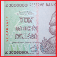 ZIMBABWE 50 TRILLION UNCIRCULATED 2008 AA SERIES | SEQUENTIAL | 100% AUTHENTIC!
