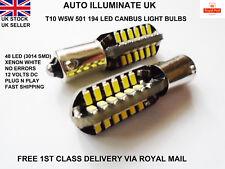BA9S 233 T4W CAR BULB LAMP 48 LED NO ERROR FREE CANBUS BRIGHT WHITE SIDE LIGHTS