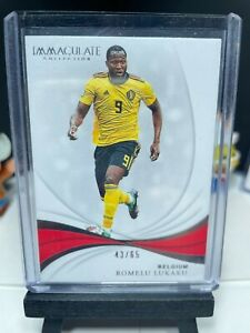 2018-19 Panini Immaculate Soccer ROMELU LUKAKU Base Card No. 77 Belgium 43/65