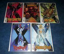 X-MEN BLACK 1st print set (5) J SCOTT CAMPBELL MYSTIQUE EMMA FROST MAGENTO #1 NM