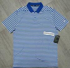Nwt Nike Dri Fit Victory Stripe Golf Polo Sz Medium 100% Authentic 891853 480