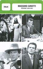 FICHE CINEMA ITALY ITALIE Massimo Girotti  Acteur Actor Période 1939-1955