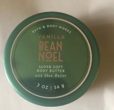New Bath & Body Works Vanilla Bean Noel Super Soft Body Butter 2 Oz