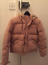 BNWT Women's Carhartt Community Down Jacket Coat In Tan Size Small Puffer Puffa