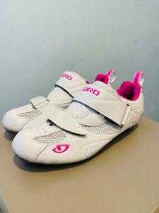 GIRO Facet Tri Triathlon Cycling Shoes, Women's, White/Rhodamine, Multiple sizes
