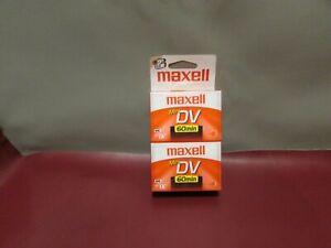 MAXELL MiniDV Mini DV 4-Pack 60 Minutes Digital Video Cassettes 4 Camcorders NEW