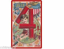 Firecracker Fireworks 1910 Image Refrigerator / Tool Box Magnet
