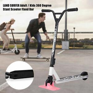 Outdoor Kids/Adult Pro Stunt Scooter Fixed Bar 360 Degree Street Kick Push Wheel