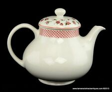 Ralph Lauren Old Mill Floral Wedgwood Teapot w/Lid Red Roses Made in England