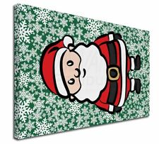 """Father Christmas 30""""x20"""" Wall Art Canvas, Extra Large Pictur, Christmas-16-C3020"""