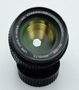 Minolta MC Rokkor-PG 1.4 50mm Lens   Minolta MD