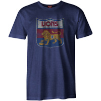 AFL Heritage Retro Tee Shirt - Fitzroy Lions - Generous Sizes - BNWT