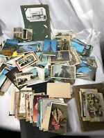 Mixed US &  Foreign Lot Of 200 + Old Antique Used & Unused Real Photo Postcards