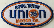 UNION 76 ROYAL TRITON MOTOR OIL embroidered cloth patch.    D010202