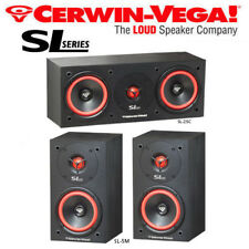 Cerwin Vega SL Bookshelf Center Bundle Home Theater Speakers Set SL-5M SL-25C