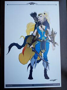 Everquest Next Very Rare Firiona Vie Concept Art! 1 of 1?