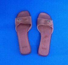 COACH WOMEN'S BROWN LEATHER SANDALS- ITALY SIZE -9,5B