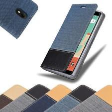 Handy Hülle für WIKO VIEW GO Cover Case Tasche Etui Jeans Stoff