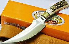 Marbles Knives Full Tang Upswept Stag Bone Skinner Hunting Skinning Knife