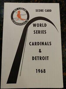 Bob Gibson UNSCORED 17 K Game 1 1968 MLB World Series scorecard Cardinals Tigers