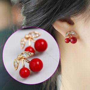 Red Women's Earrings Cherry Shape Fashion Popular Oorbel Sieraden Explosion