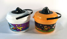 McDonalds Halloween Buckets Lot Of 2 Pails 1999 Birdie Ronald Grimace Witch Bat