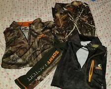 Lot of 3- Hunting Men's Camo Shirts Pullover Canyon Guide Mossy Oak Size M