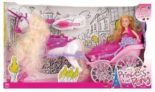 Toyrific BELLISSIMA FASHION CARROZZA Giocattolo Bambole Barbie Disney Princess CAVALLO NUOVO