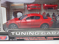 MAZDA RX-8  Red  TUNING GARAGE 1:24 MOTOR MAX NEW