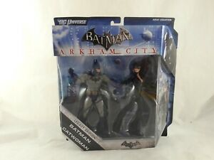 DC Universe Arkham City Batman and Catwoman  Legacy Collection Action Figures
