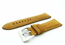 Brown Suede/Leather Strap/Band Buckle for Officine Panerai Watch 22mm 24mm 26mm