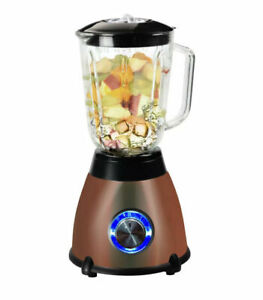 Kitchen Genie Glass Table Top Blender With Grinder 500W 1.5 Litre Copper -New