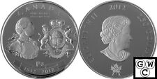 2012 Kilo 'George III - War of 1812 Medal' $250 Silver Coin .9999 Fine (13015)
