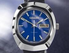 Citizen Vintage Mens Blue 17 Jewels Manual Wind 1970s Japanese Watch 7074